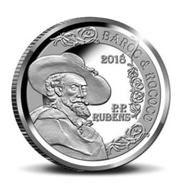 """België 10 euromunt 2018 """"Rubens - Barok en Rococo"""", proof, zilver in blauw doosje met certificaat"""