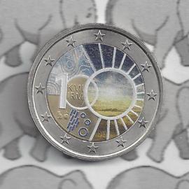 """België 2 euromunt CC 2013 """"100 jaar Koninklijke Meteorologisch Instituut"""" (kleur 2)"""