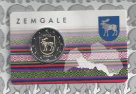 """Letland 2 euromunt CC 2018 """"100 jaar onafhankelijkheid van de Baltische Staten"""" (in coincard)provincie Zemgale"""