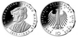 """Duitsland 10 euromunt 2013 (3e) """"200ste verjaardag Richard Wagner"""""""