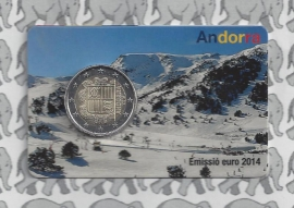 Andorra standaard 2 euromunt 2014 in coincard