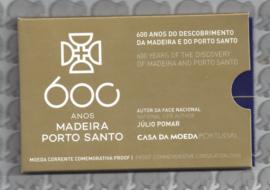 """Portugal 2 euromunt CC 2019 """"600 Jaar sinds de ontdekking van Madeira"""" proof in blister"""