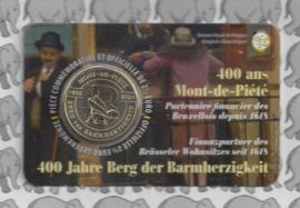 """België 2,5 euromunt 2018 """"400 jaar Berg van Barmhartigheid"""" in coincard Franse versie"""