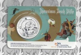 """Nederland 5 euromunt 2016 """"Jeroen Bosch"""" (in coincard)"""