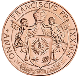 """Vaticaan 20 euromunt 2021 """"Sint Pieter in Vaticaan"""" (koper)"""
