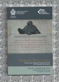 "San Marino 2 euromunt CC 2014 (11e)""500ste sterfdag van Donato Bramante"" (in blister)"