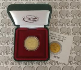 """België 2 euromunt CC 2008 """"Mensenrechten 60 jaar"""" proof in doosje"""