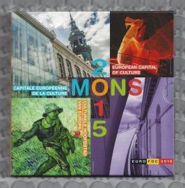 "België BU set 2015 ""Mons"" inclusief 5 euromunt"