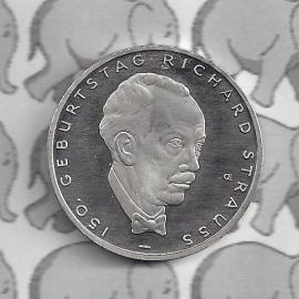 "Duitsland 10 euromunt 2014 (3e) ""150ste verjaardaag Richard Strauss"" (nikkel)"