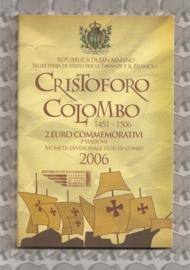 """San Marino 2 euromunt CC 2006 (3e)""""Columbus"""" (in blister)"""