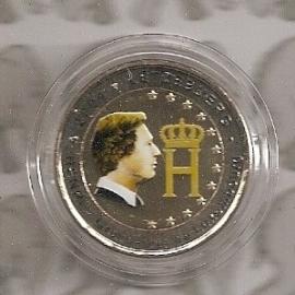 """Luxemburg 2 euromunt CC 2004 """"Monogram"""" (kleur 1e)"""