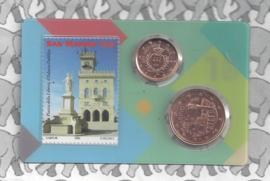 San Marino coincard 2018 nummer 1 met 1 en 5 cent