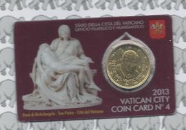 Vaticaan 50 eurocent 2013 in coincard, nummer 4
