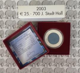 """Oostenrijk 25 euromunt 2003 """"700 jaar stad Hall"""" (Niob)"""