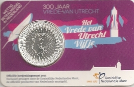 "Nederland 5 euromunt 2013 (23e) ""300 jaar vrede van Utrecht"" (in coincard)"