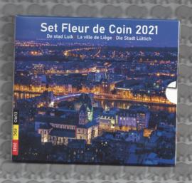 """België BU set 2021 """"De stad Luik"""""""
