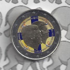 """Nederland 2 euromunt CC 2014 """"Koningsdubbelportret"""" (kleur)"""