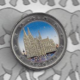"""Duitsland 2 euromunt CC 2011 """"Keulen"""" (kleur 2 x)"""