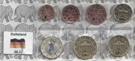 Duitsland UNC serie 2018 (7 munten, 1 cent tot en met 1 euro)