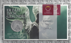 "Oostenrijk 10 euromunt 2018 ""Engel Raphaël"". Zilver in blister"