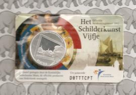 """Nederland 5 euromunt 2011 (17e) """"Het Schilderkunst vijfje"""" (in coincard)"""
