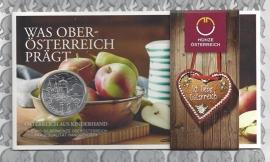 "Oostenrijk 10 euromunt 2016 ""Oberösterreich"". Zilver in blister."