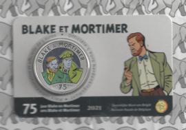 "België 5 euromunt 2021 ""75 jaar Blake en Mortimer"", kleur BU in coincard"
