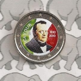 """Italië 2 euromunt CC 2010 """"Cavour"""" (kleur)"""