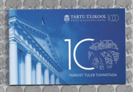 """Estland 2 euromunt CC 2019 (8e)""""100 jaar na de oprichting van de Esttalige Universiteit van Tartu"""" in coincard"""