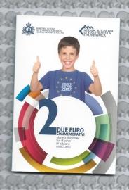 """San Marino 2 euromunt CC 2012 (9e)""""10 jaar euro"""" (in blister)"""
