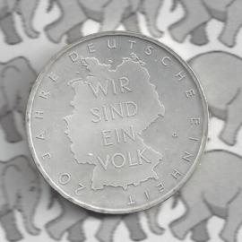 """Duitsland 10 euromunt 2010 (48e) """"20 Jaar Duitse Eenheid"""" (zilver)."""