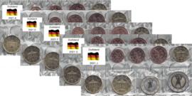 Duitsland 5 x UNC serie 2021, letters A, D, F, G en J