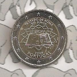 "Portugal 2 euromunt CC 2007 (2e)""Verdrag van Rome"""