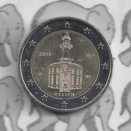 """Duitsland 2 euromunt CC 2015 """"Paulskirche in Frankfurt"""" (letter J)"""