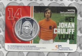 "Nederland 5 euromunt 2017 ""Johan Cruijff vijfje"" (BU, met nummer in coincard)"