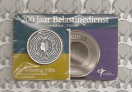 """Nederland 5 euromunt 2006 (10e) """"Belastingdienst"""" (in coincard, zilver)"""