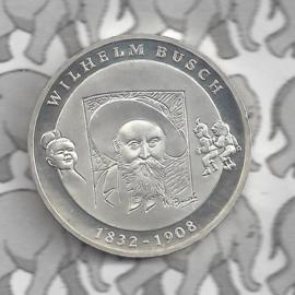 "Duitsland 10 euromunt 2007 (31e) ""175e Verjaardag Wilhelm Busch"" (nikkel)."