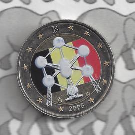 """België 2 euromunt CC 2006 """"Atomium"""" (kleur 3)"""