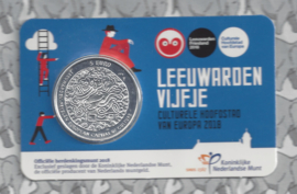 "Nederland 5 euromunt 2018 (37e) ""Leeuwarden vijfje"" (in coincard)"