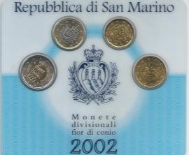 "San Marino BU set 2002 ""4 muntjes"""