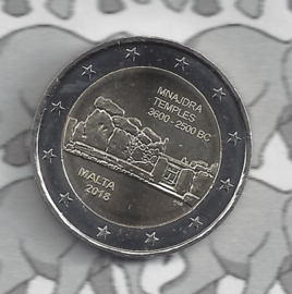 "Malta 2 euromunt CC 2018 ""Megalithische tempels van Mnajdra"""