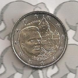"""Luxemburg 2 euromunt CC 2008 """"Chateau de Berg"""""""
