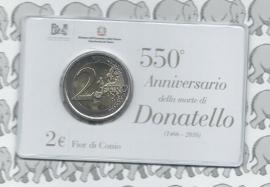 """Italië 2 euromunt CC 2016 """"Donatello"""" in coincard"""