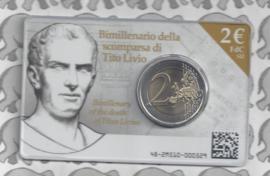"""Italië 2 euromunt CC 2017 """"2000 jaar sinds het overlijden van Livius"""" in coincard"""