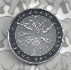 "Duitsland 20 euromunt 2017 (8e) ""50 jaar Duitse sporthulp"", zilver"
