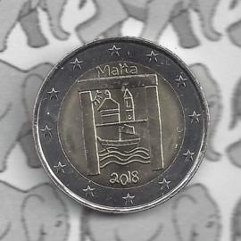 """Malta 2 euromunt CC 2018 """"Cultureel erfgoed"""""""
