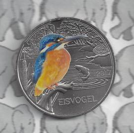 """Oostenrijk 3 euromunt 2017 """"IJsvogel"""" (4 van 12)"""