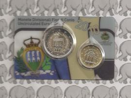 San Marino 10 eurocent en 200 eurocent  2010 (in coincard)
