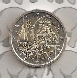 "Italië 2 euromunt CC 2006 ""Olympische winterspelen"""