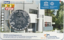 """Nederland 5 euromunt 2013 """"Rietveld Schröderhuis"""" (in coincard)"""